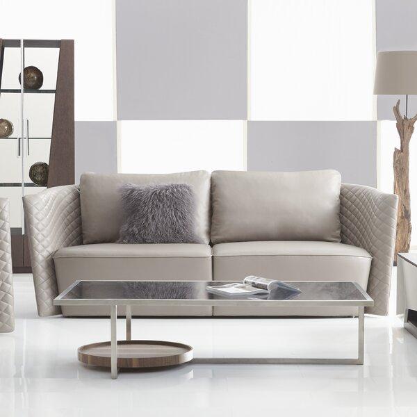 Francis Leather Sofa by Orren Ellis