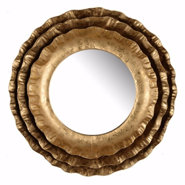 Damaris Unique Traditional Round Accent Mirror by Bloomsbury Market