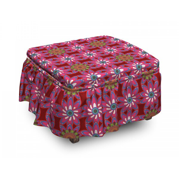 Persian Motley Flowers Ottoman Slipcover (Set Of 2) By East Urban Home
