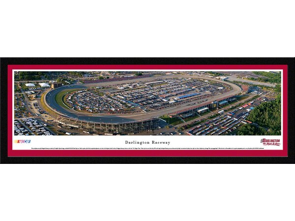 NASCAR Darlington Raceway by Christopher Gjevre Framed Photographic Print by Blakeway Worldwide Panoramas, Inc