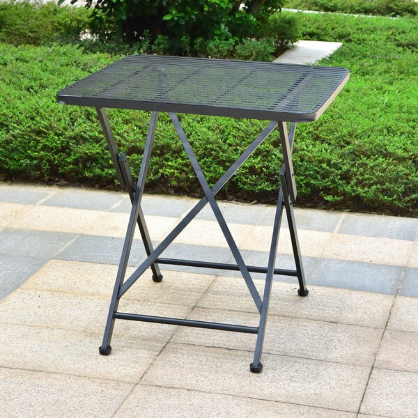 Signe Contemporary Folding Iron Bistro Table by Darby Home Co