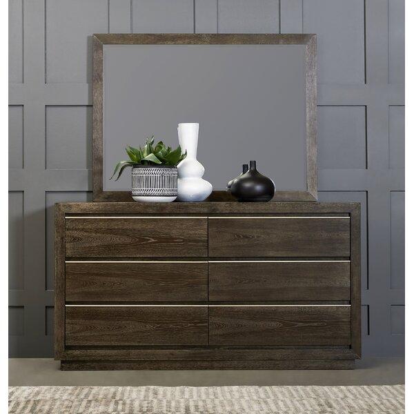 Lydney 6 Drawer Double Dresser with Mirror by Brayden Studio