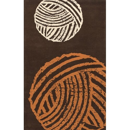 Brown/Orange Area Rug by East Urban Home