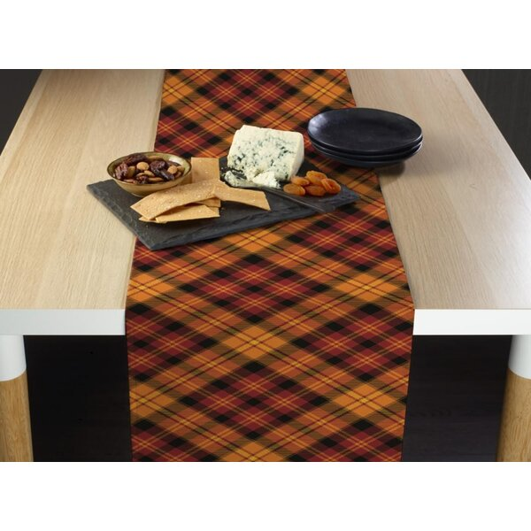Idlewild Fall Harvest Plaid Table Runner by Alcott Hill