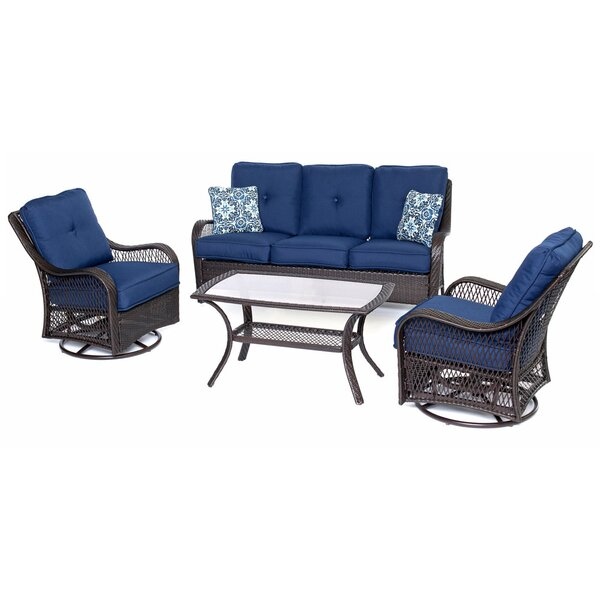Bibiana 4 Piece Sofa Seating Group with Cushions by Highland Dunes