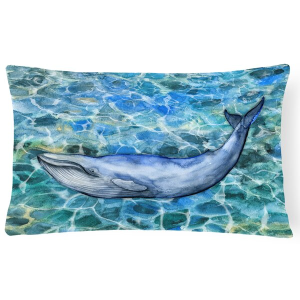 Claverley Humpback Whale Lumbar Pillow by Latitude Run
