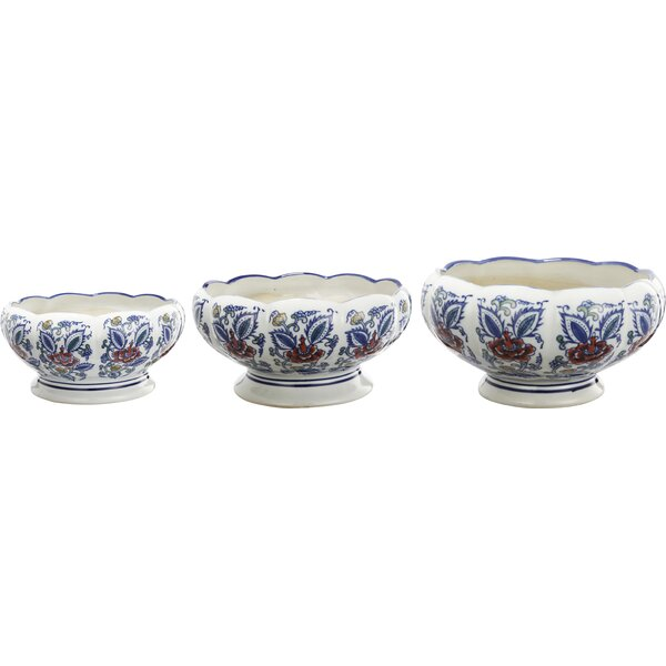 Fitzgerald 3 Piece Ceramic Pot Planter Set by Darby Home Co