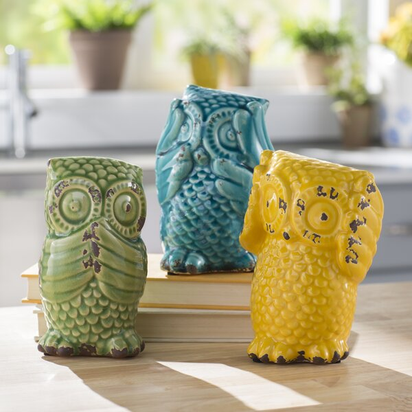 Wise Owl 3 Piece Figurine Set by August Grove