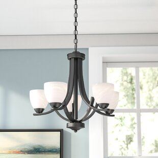 Chandelier for low ceiling wayfair crofoot 5 light shaded chandelier mozeypictures Image collections