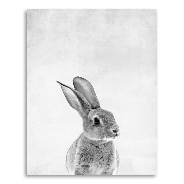 Animal Prints Baby Bunny in Portrait Format Paper Print by Coco and James