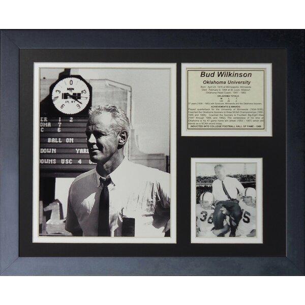 Bud Wilkinson - Oklahoma Framed Memorabilia by Legends Never Die