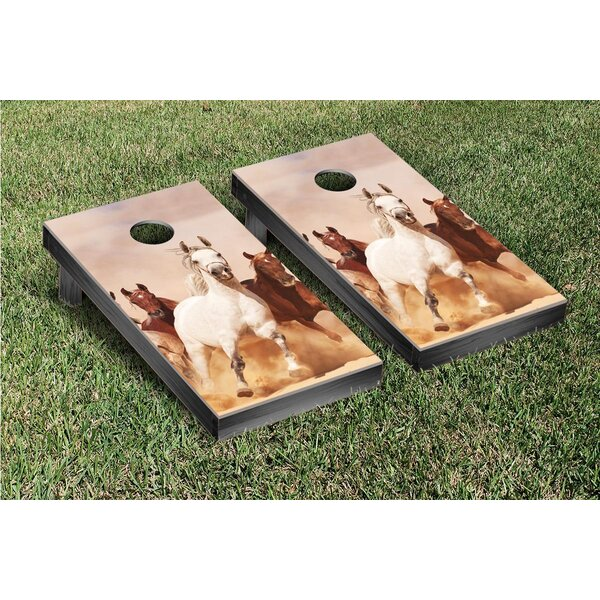 Horses Group Cornhole Game Set by Victory Tailgate