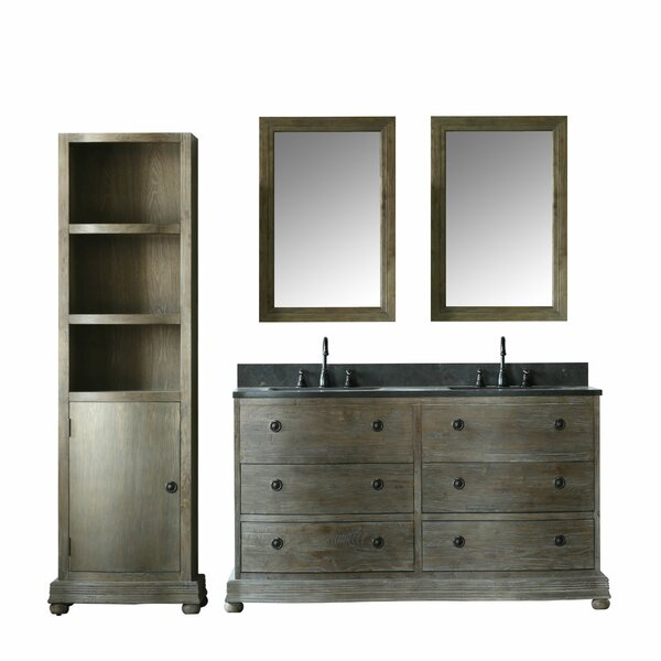 Stiles 61 Double Bathroom Vanity Set with Mirror by Loon Peak