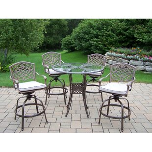 Hummingbird Mississippi 5 Piece Bar Height Dining Set with Cushions By Oakland Living