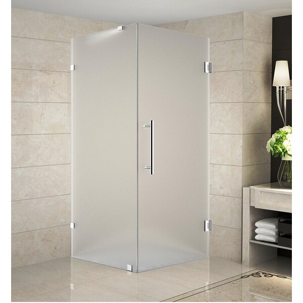 Aquadica 38 x 72 Hinged Frameless Shower Door by Aston