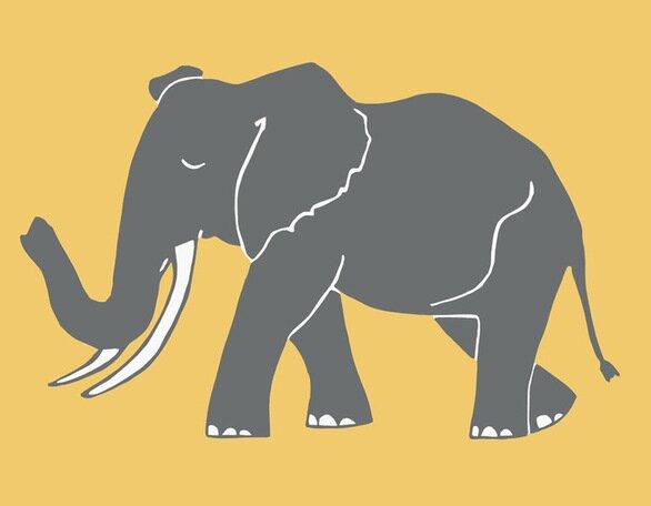 Simple Elephant Canvas Art by Oopsy Daisy