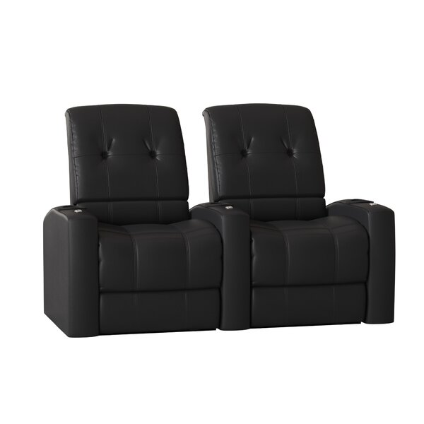 Large Blue LED Home Theater Row Seating (Row Of 2) By Latitude Run