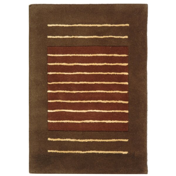 Chidi Rust/Brown Area Rug by Ebern Designs