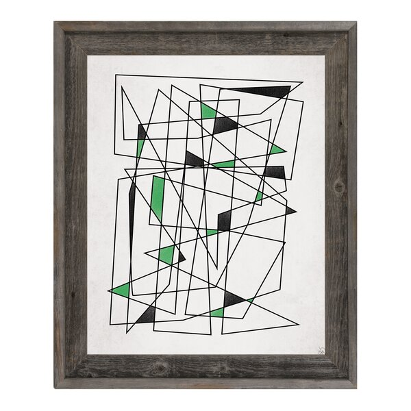 Retro Puzzle IV Framed Graphic Art on Canvas by Click Wall Art
