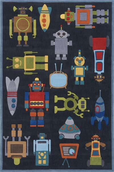 Johnnie Hand-Tufted Steel Kids Rug by Viv + Rae