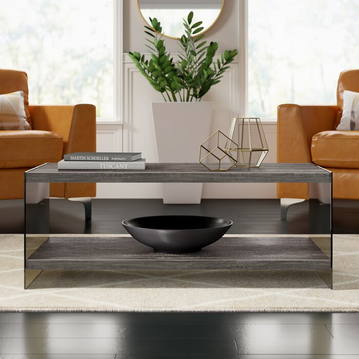 Liter Modern Coffee Table With Tray Top