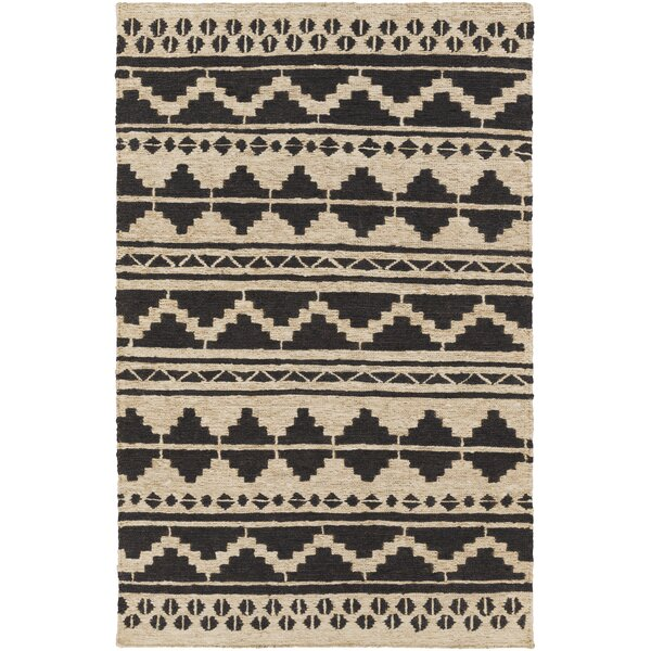 Columbia Hand-Woven Black Area Rug by Loon Peak