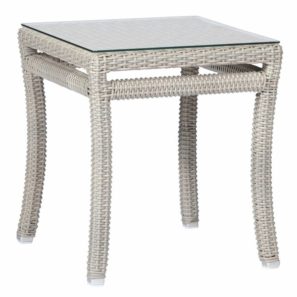 Skye Club Glass Side Table by Summer Classics
