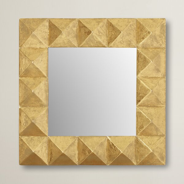 Pyramid Square Wall Mirror by Willa Arlo Interiors