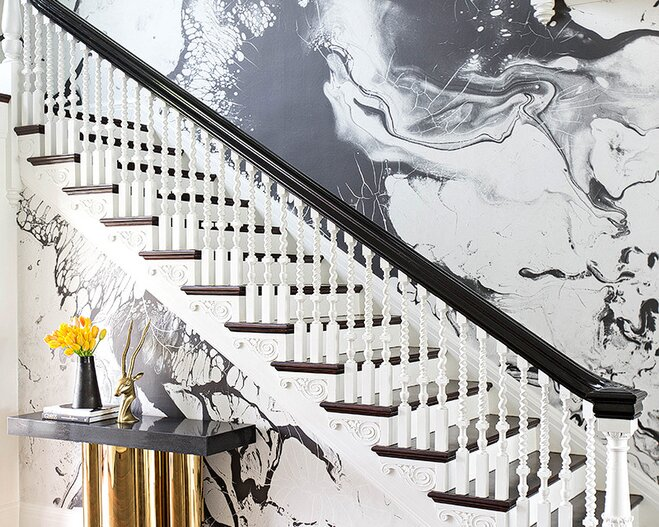 Black And White Dyed Wallpaper