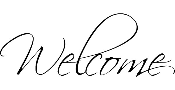 Welcome Wall Decal by Decal the Walls