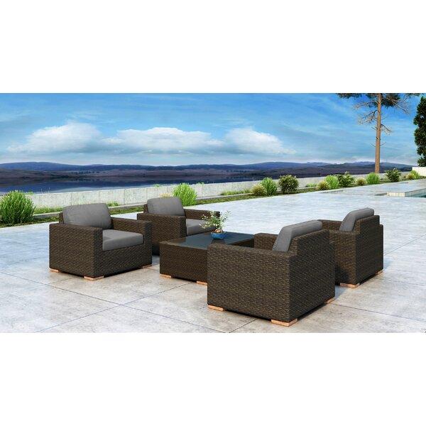 Glen Ellyn 5 Piece Sunbrella Sofa Seating Group with Cushions by Everly Quinn