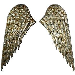 Angel wings wayfair 2 piece angel wings wall dcor set thecheapjerseys Images