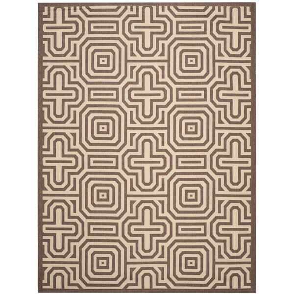 Sherree Natural/Brown Indoor/Outdoor Area Rug by Wrought Studio