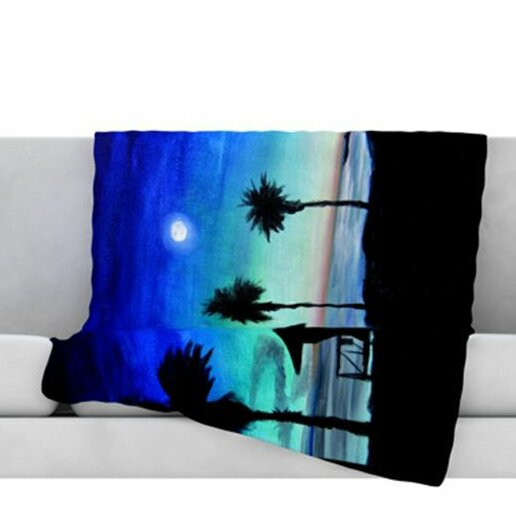 Carlsbad State Beach Fleece Throw Blanket by KESS InHouse