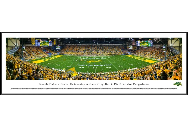 NCAA North Dakota State Football 50 Yard Line Framed Photographic Print by Blakeway Worldwide Panoramas, Inc