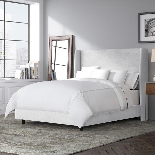 Goodrich Velvet Upholstered Standard Bed by Brayden Studio