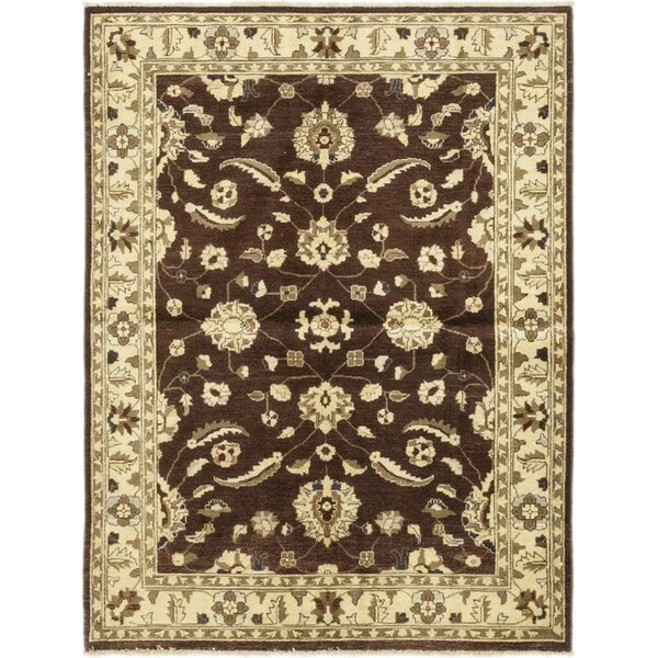 One-of-a-Kind Dewald Hand-Knotted Wool Brown/Beige Indoor Area Rug by Isabelline