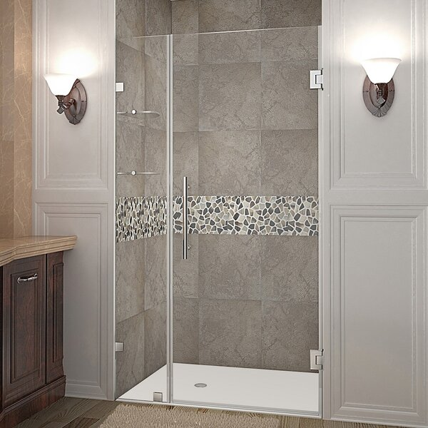 Nautis GS 41 x 72 Hinged Completely Frameless Shower Door by Aston