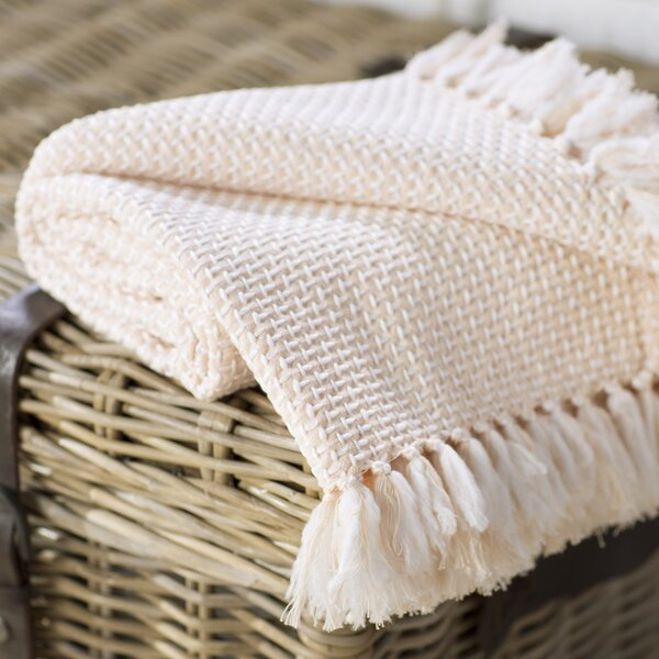 Leny Cotton Viscose Throw Blanket by Lark Manor
