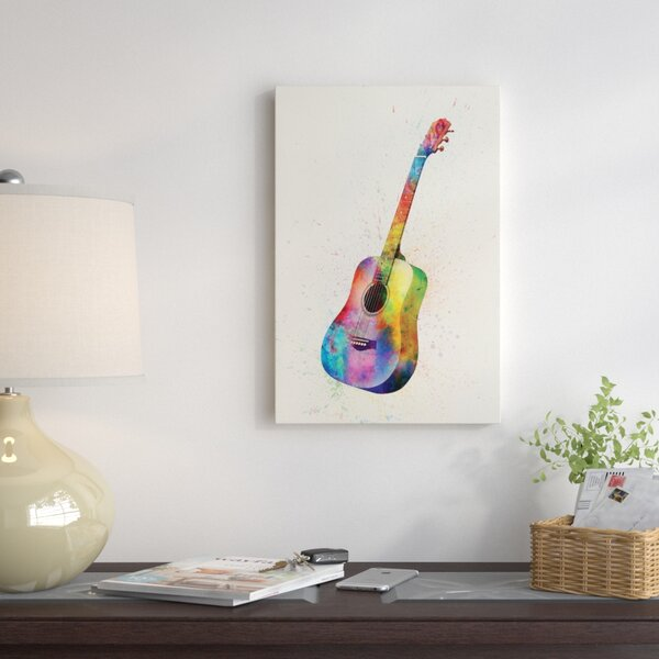 Musical Instrument Series: Acoustic Guitar Graphic Art on Wrapped Canvas by East Urban Home