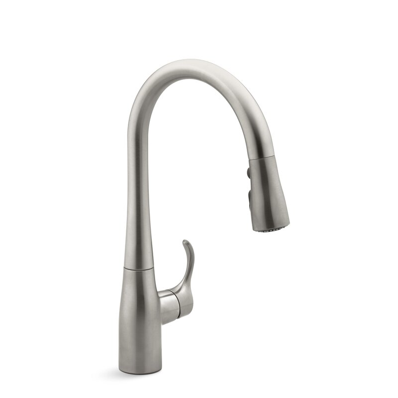 K 597 Cp Vs Bl Kohler Simplice Single Hole Kitchen Sink Faucet With 15 3 8 Pull Down Spout Docknetik Magnetic Docking System Promotion Masterclean Reviews Wayfair