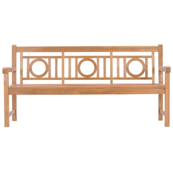 Hadrian Triple-o Teak Garden Bench by Foundry Select