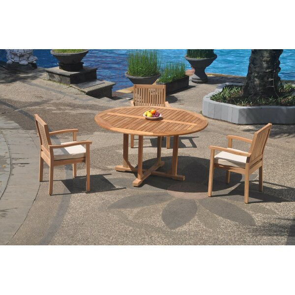 Samantha 4 Piece Teak Dining Set by Rosecliff Heights