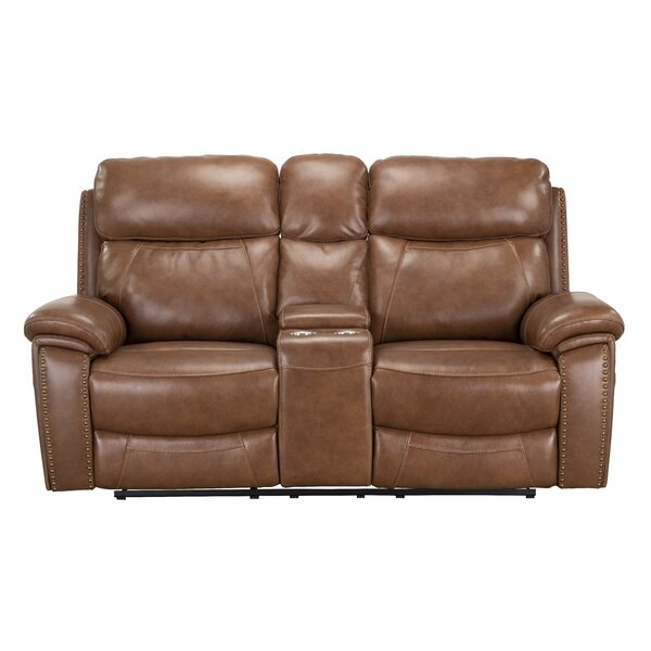 Yeager Genuine Leather Reclining by Loon Peak