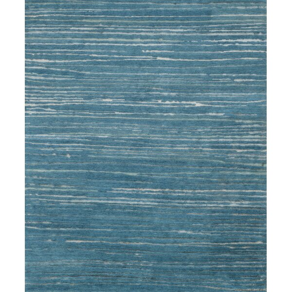 Edward Hand-Knotted Ocean Area Rug by Highland Dunes