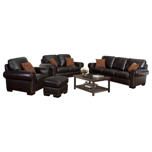 Alvis Leather Configurable Living Room Set by Canora Grey