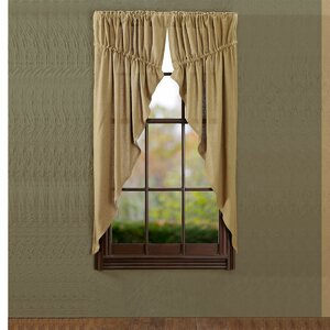 Mahwah Solid Semi-Sheer Rod Pocket Curtain Panels (Set of 2)