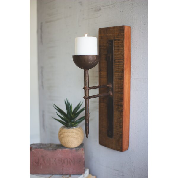 Recycled Wood Sconce by Foundry Select