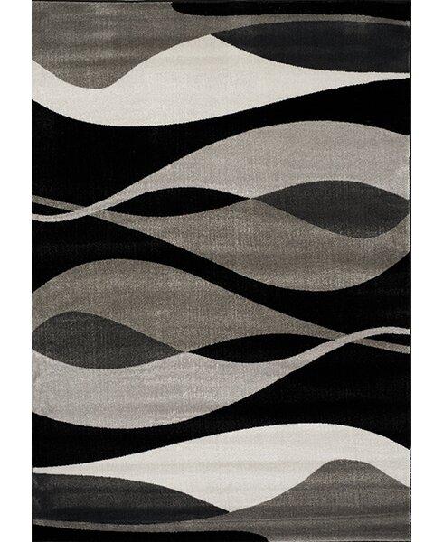 Ricky Black/Gray Area Rug by Zipcode Design