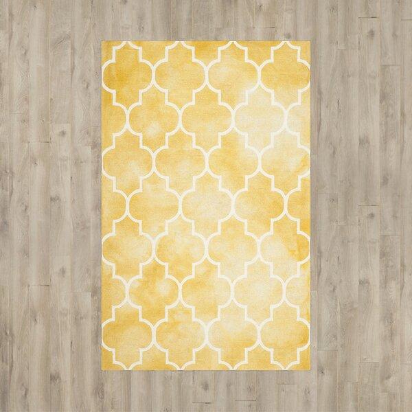 Handmade Yellow/White Area Rug by House of Hampton